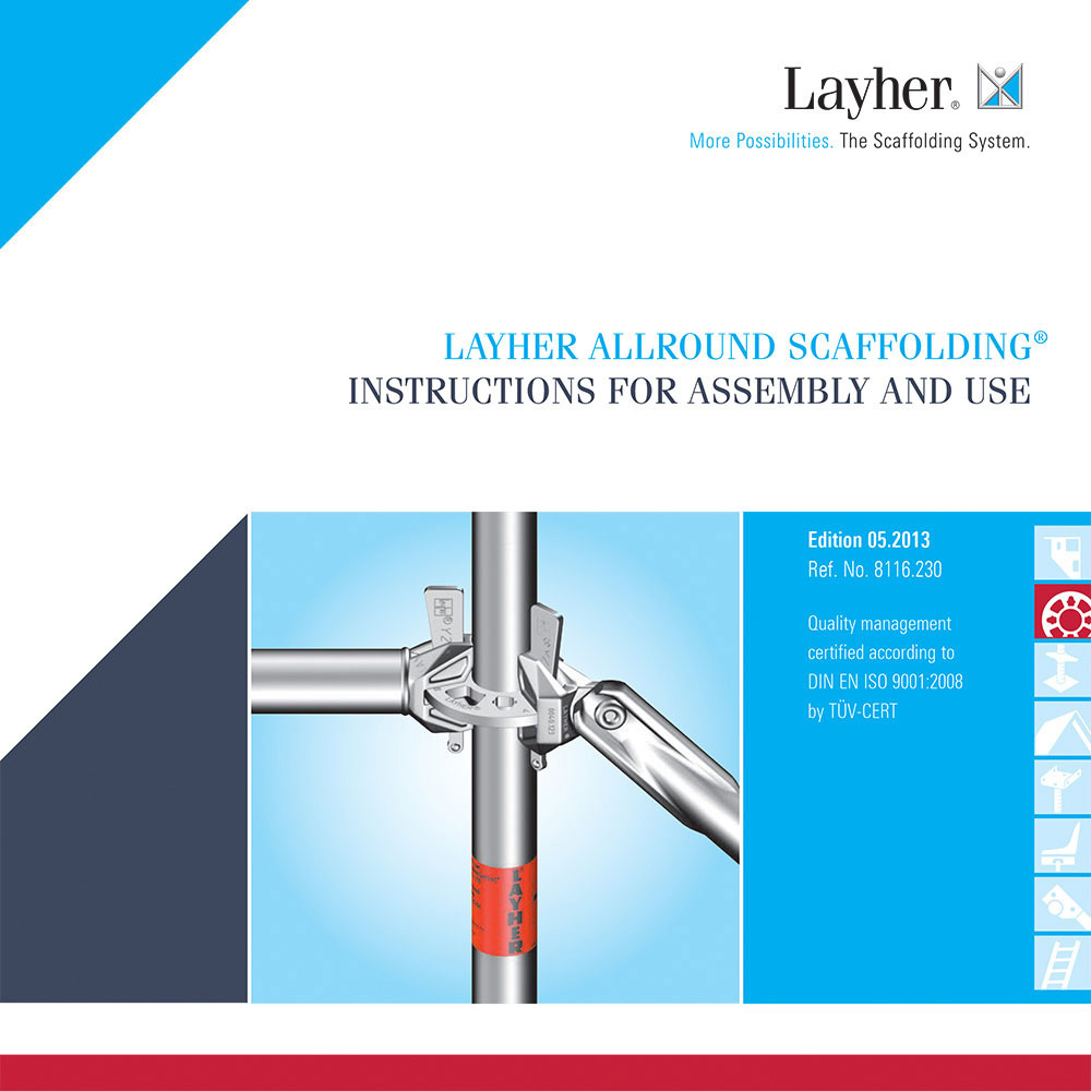 Layher Allround Instructions for Assembly and Use