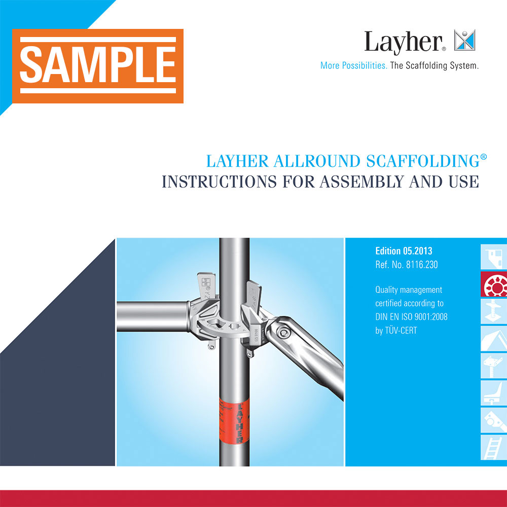 Layher Allround Scaffolding Instructions for Assembly and Use