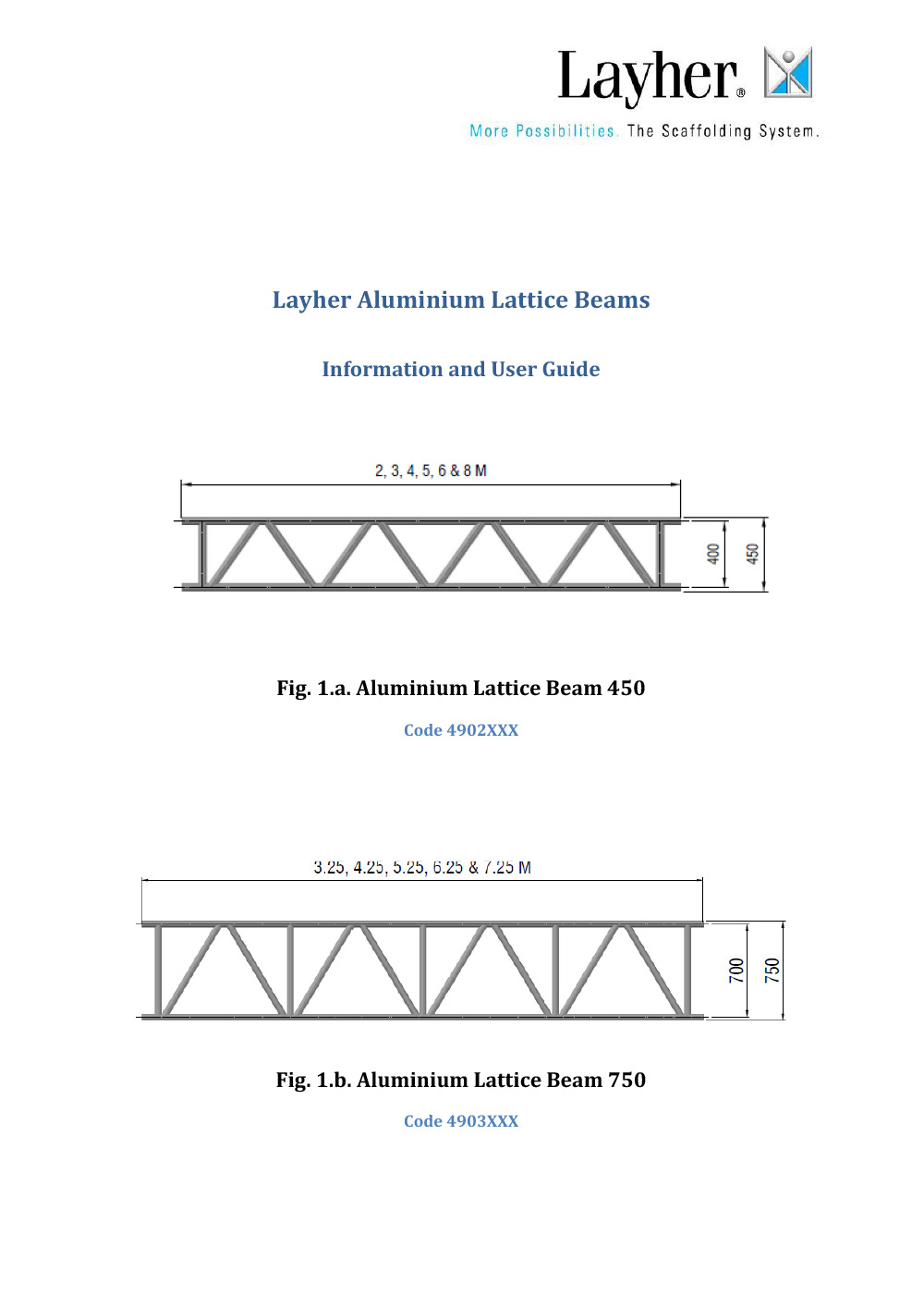 Layher Aluminium Beams Technical Information and User Guide
