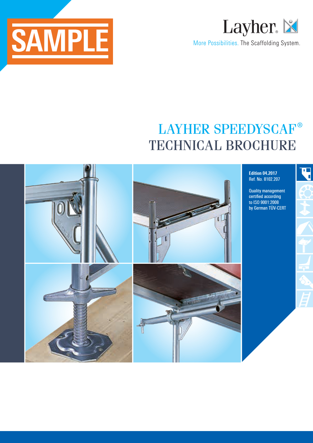 Layher SpeedyScaf technical brochure