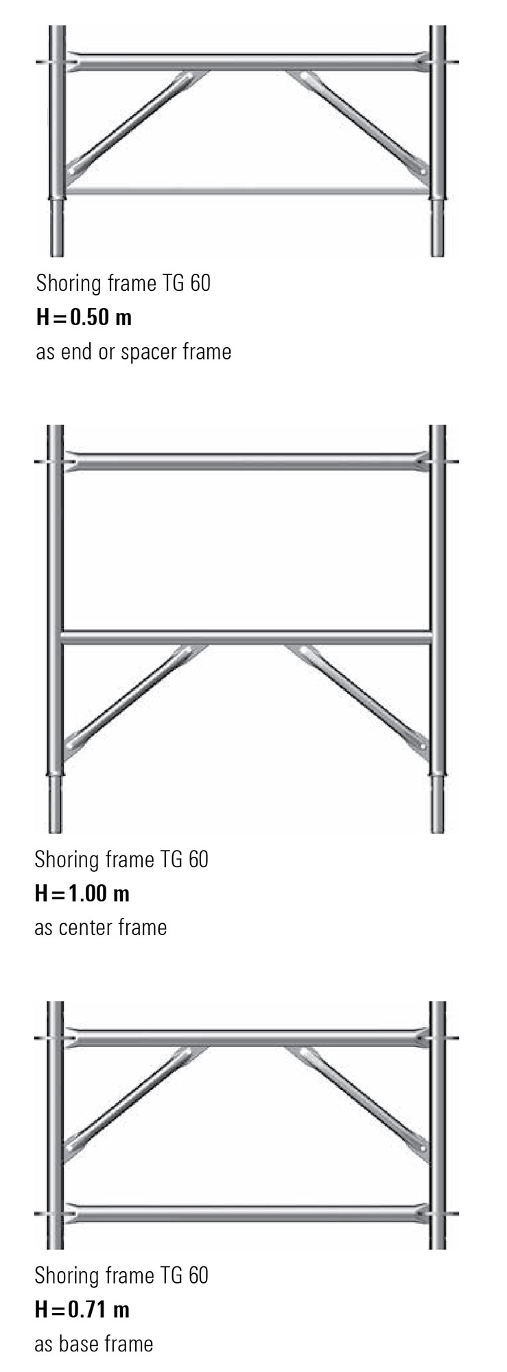Allround Shoring TG 60 propping frames