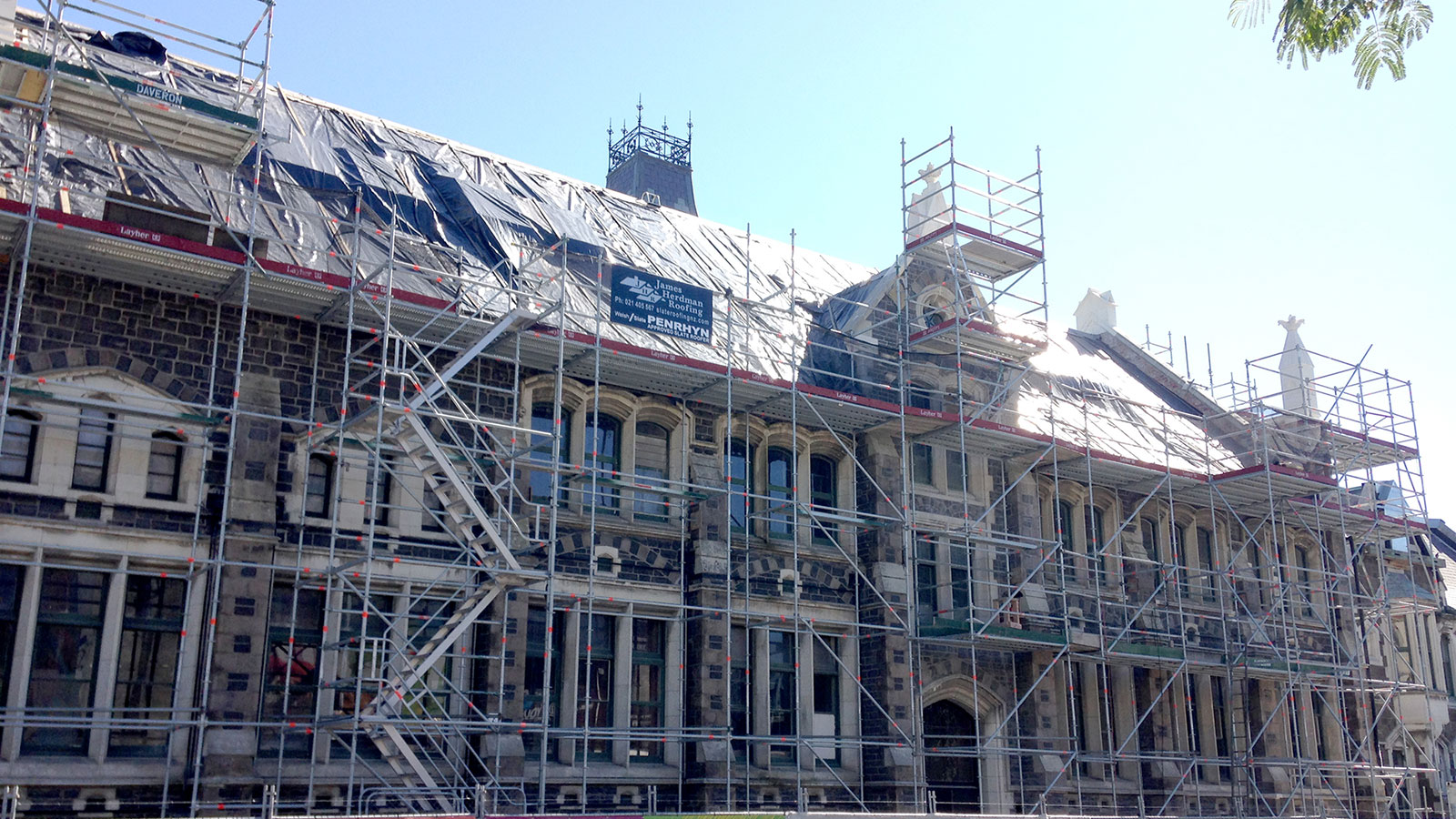 The Arts Centre of Christchurch rebuild and restoration project with the help of Layher Scaffolding