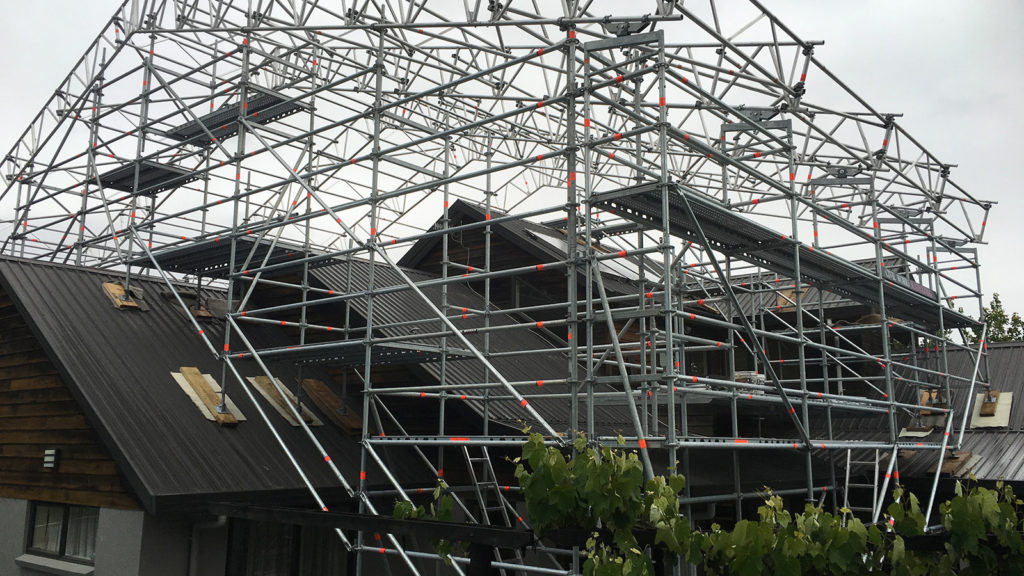Roof Scaffolding Products : Civil temporary roof layher