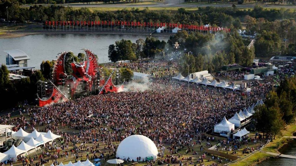 Large crowd at Defqon.1 Dragon event