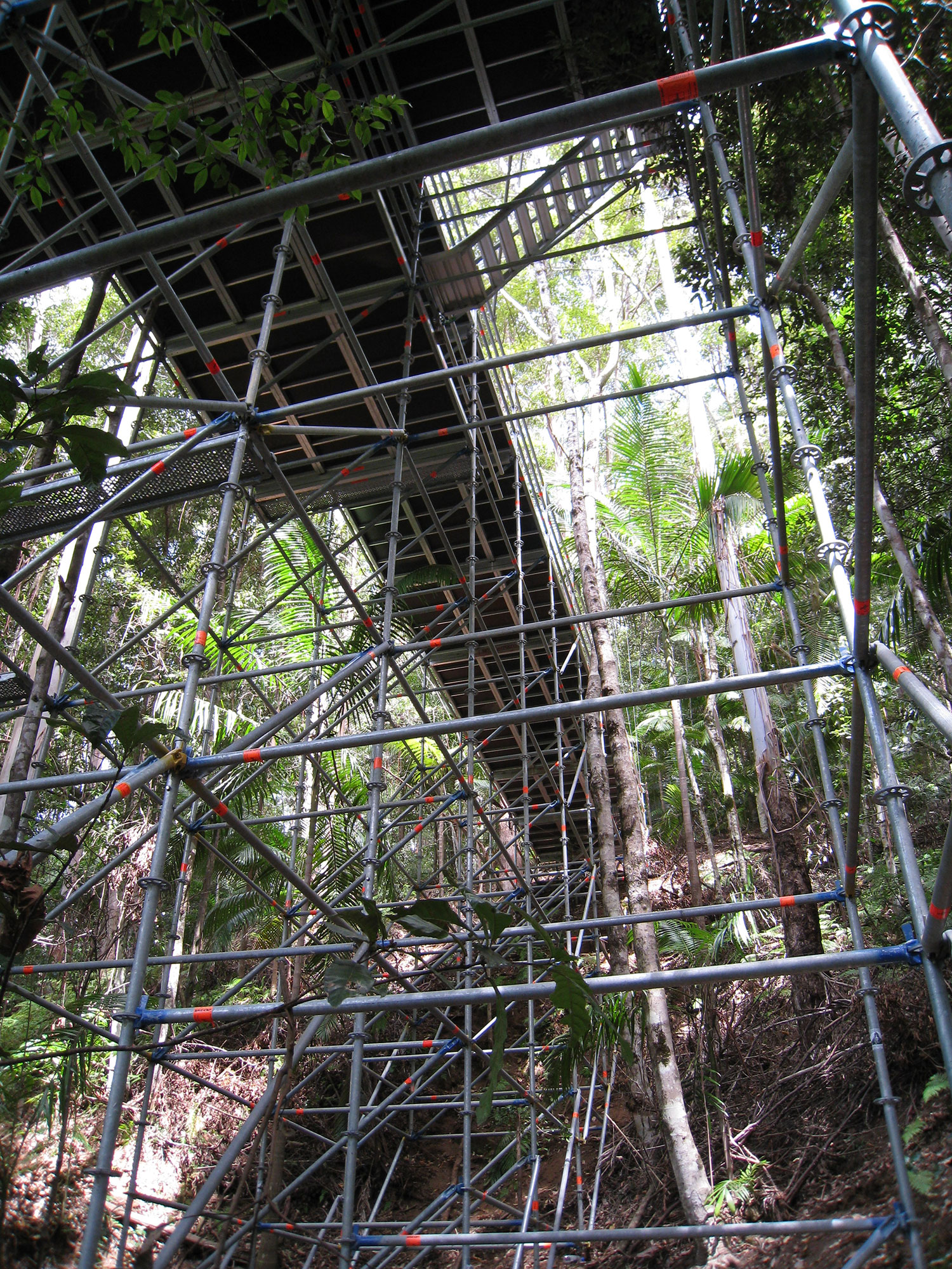 Difficult jungle terrain was no match for YKnot Productions when erecting the Layher scaffolding