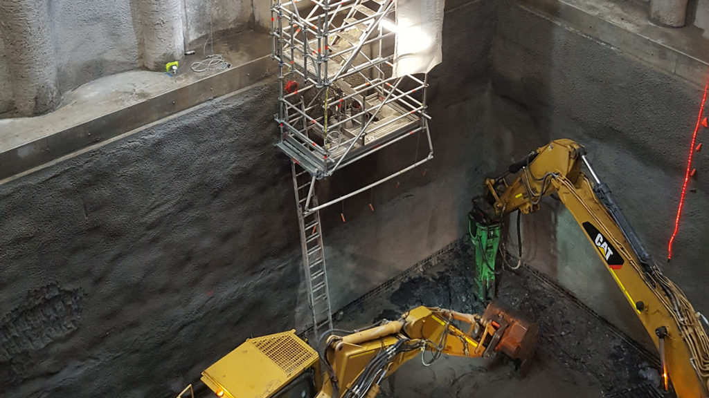 Excavated Shaft Stair by Above Scaffolding