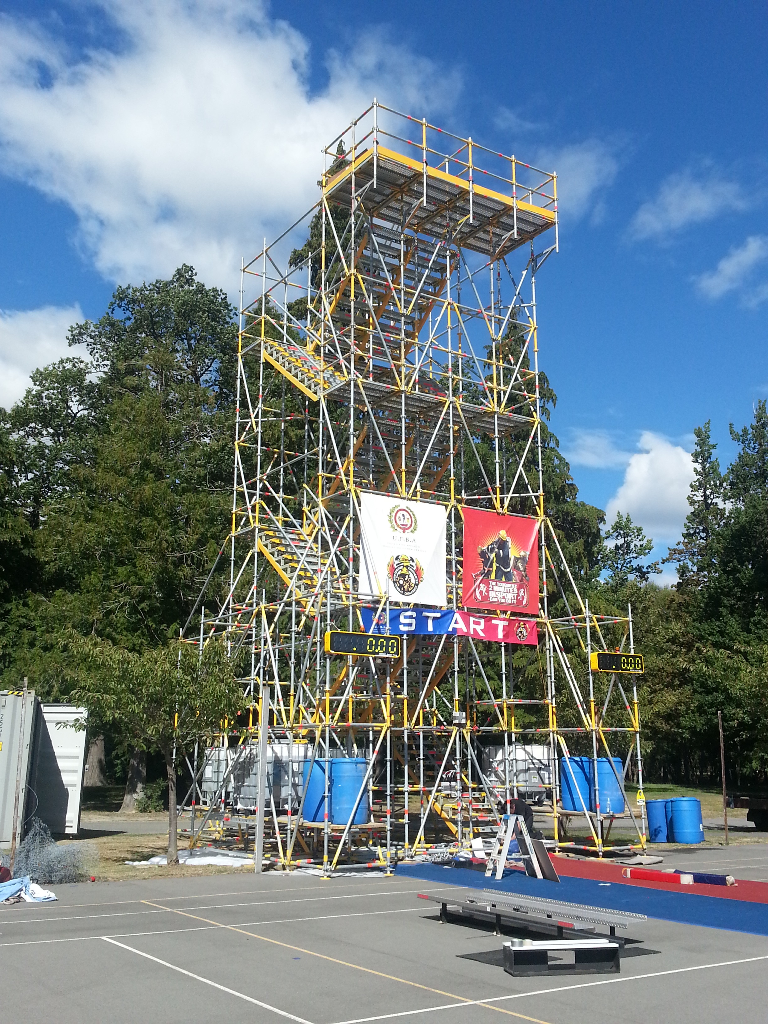 Firefighter Challenge Tower by Wellington Scaffolding