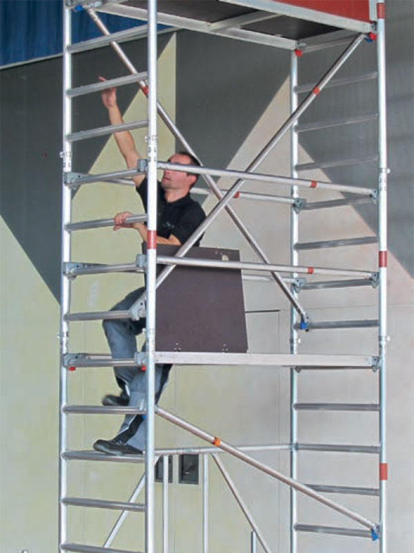 Ladder frame doubles as ladder access