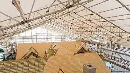 Protection and Roof Systems scaffolding