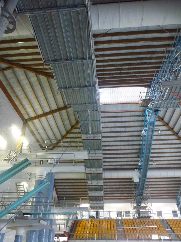 Layher Scaffolding over Wellington swimming pool
