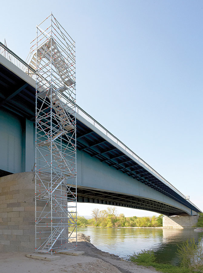 Temporary stair solutions layher for Stair tower