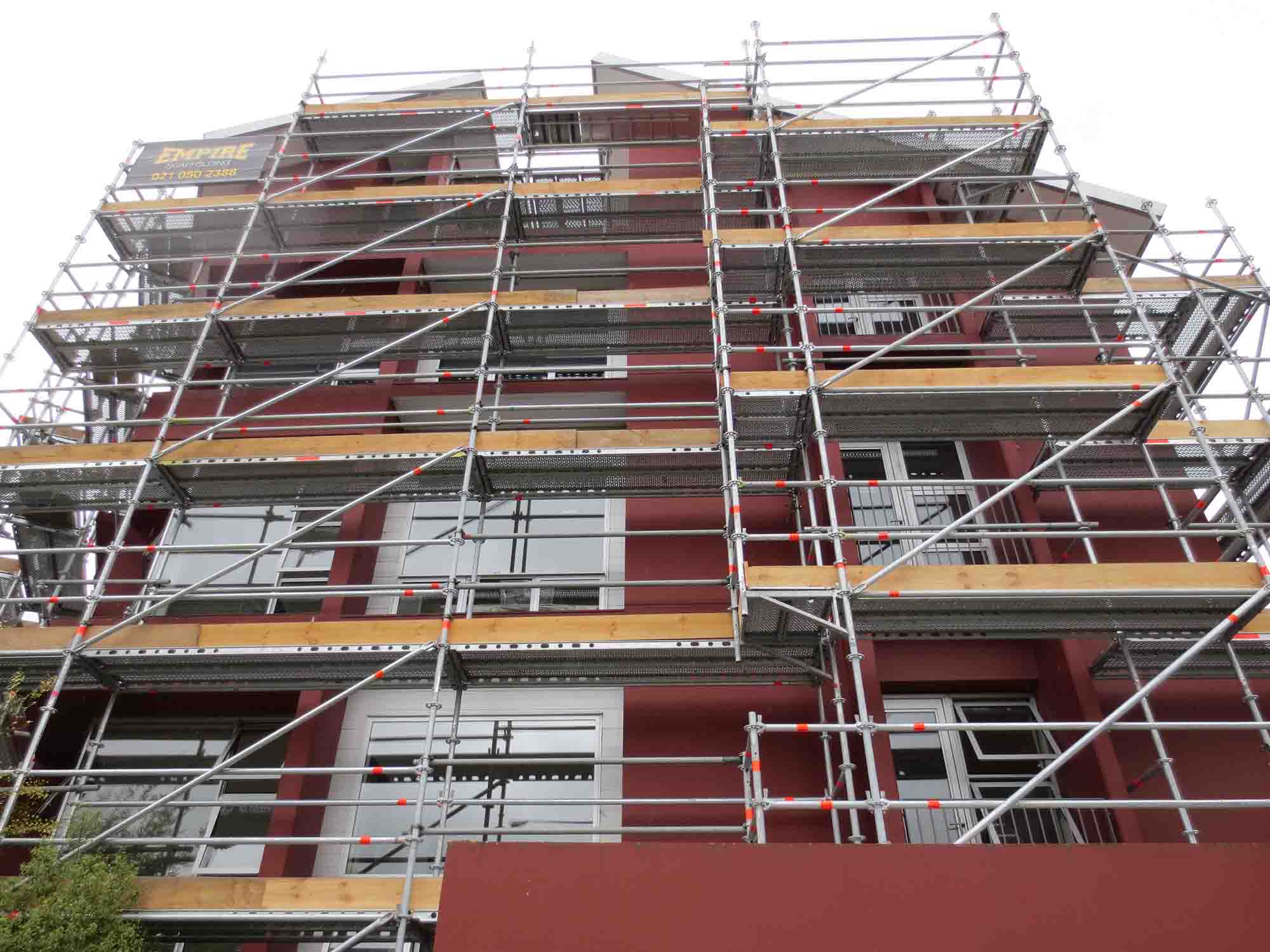 Layher Allround components were used on this Central City Christchurch project