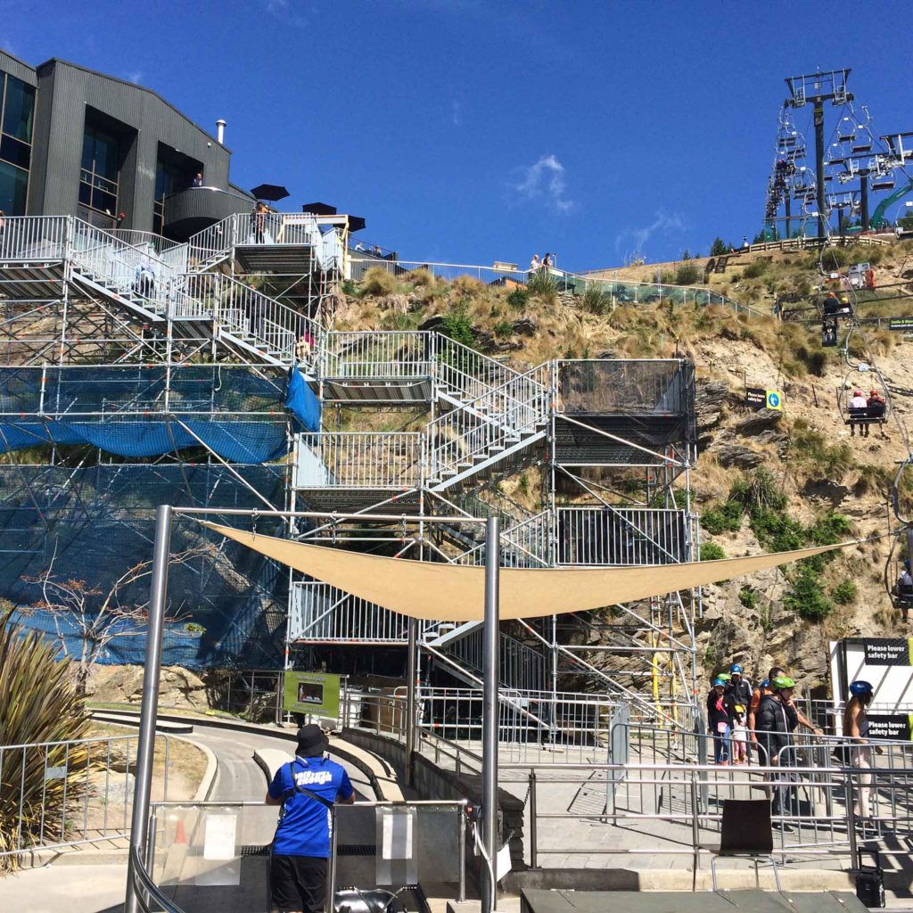 Public access stair using the versatile Layher Allround Scaffolding system