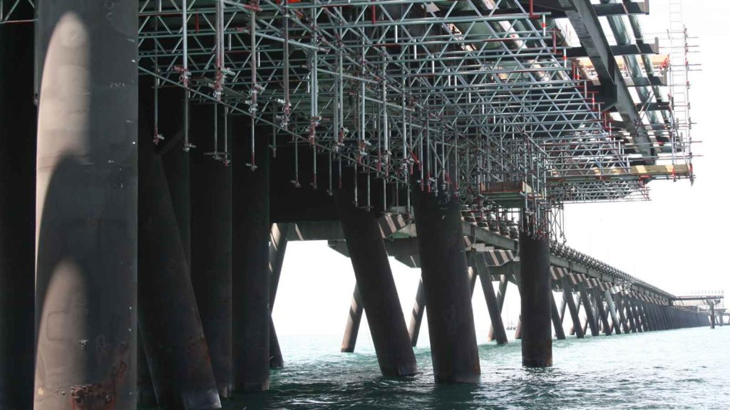 Santos Scaffolds Port Bonython Jetty by Caledonia Scaffolding Services