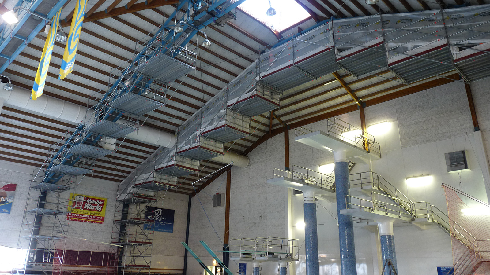 Scaffold Arches (Kilbirnie Swimming Pool) by Instant Access NZ