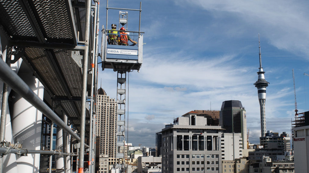 GEDA 500 Z/ZP construction lift, Auckland, New Zealand