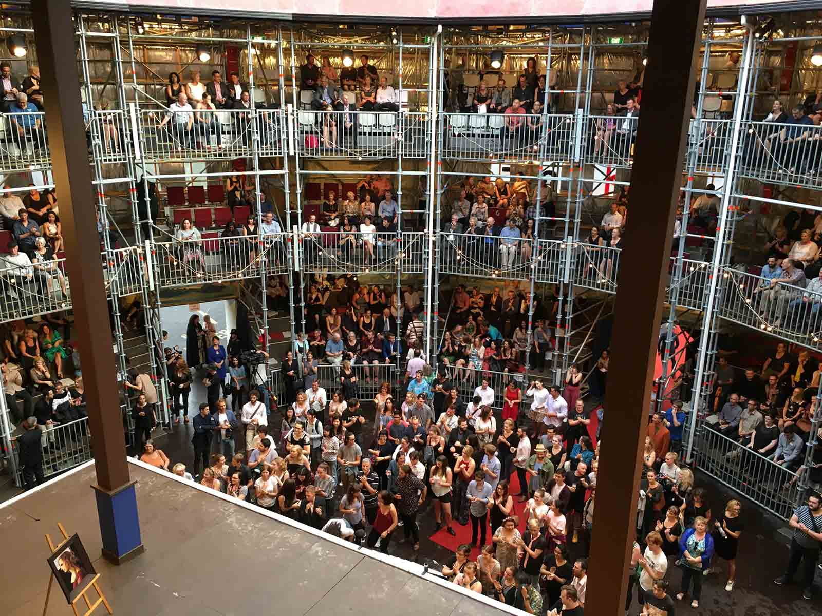 Audience experience Shakespeares work inside the Layher Allround structure