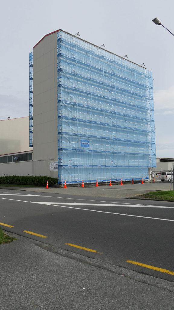 Towering scaffold for painters