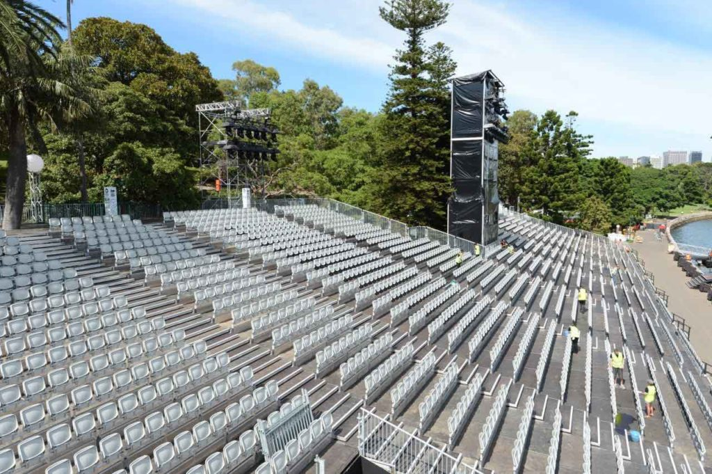Layher Event Systems used on the production of Carmen on Sydney Harbour