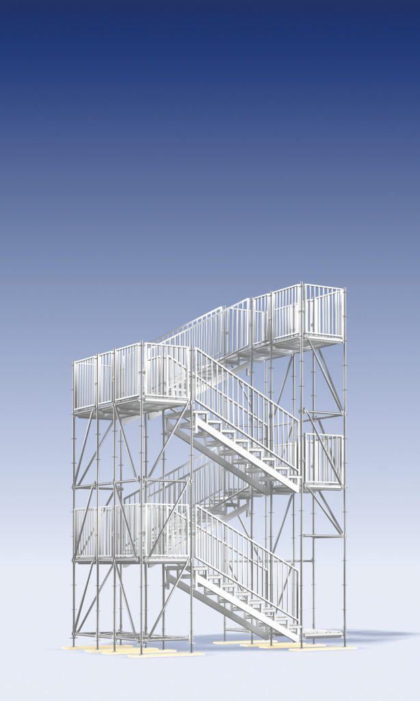 Layher Stairway Tower 750 - for public access