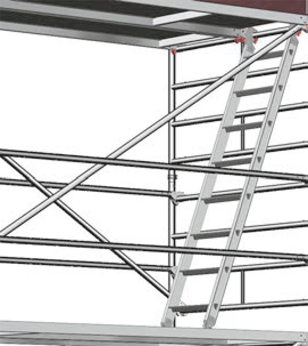 Suspended ladder access