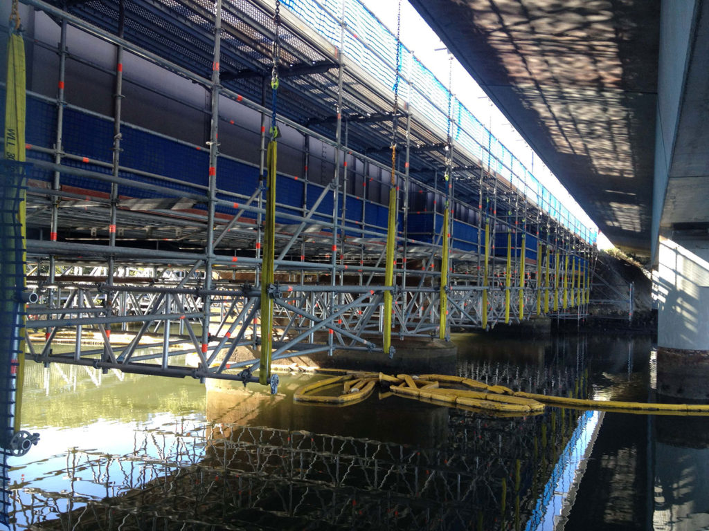 Layher Aluminium beams are an excellent solution for challenging projects