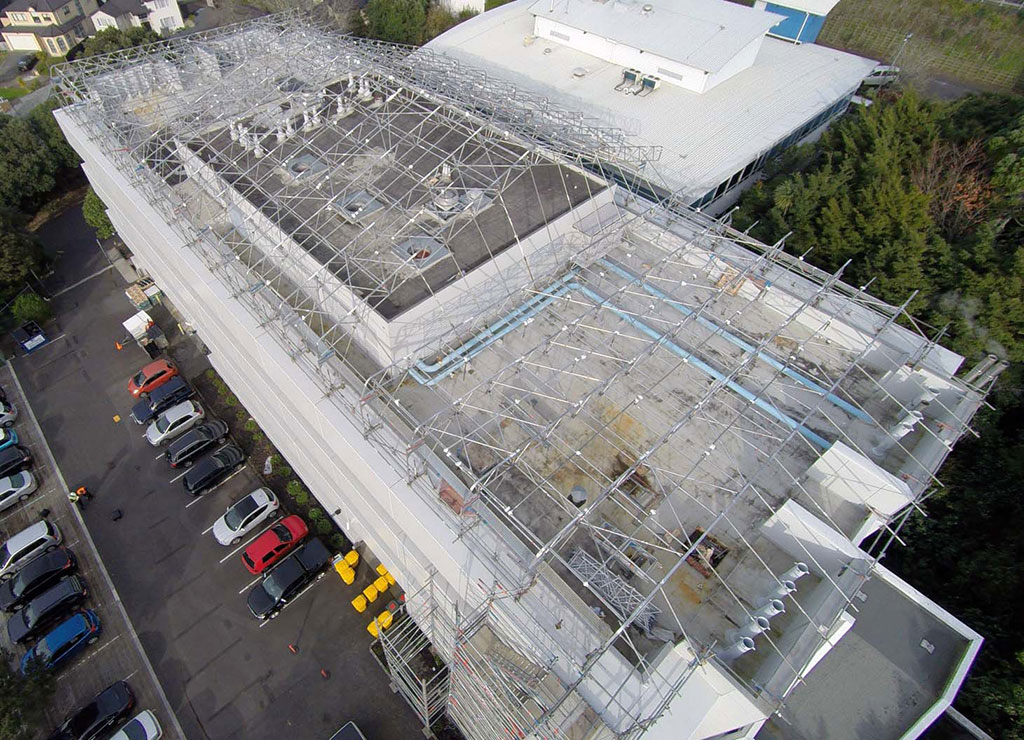 Temporary roof solution by Upright Access Systems